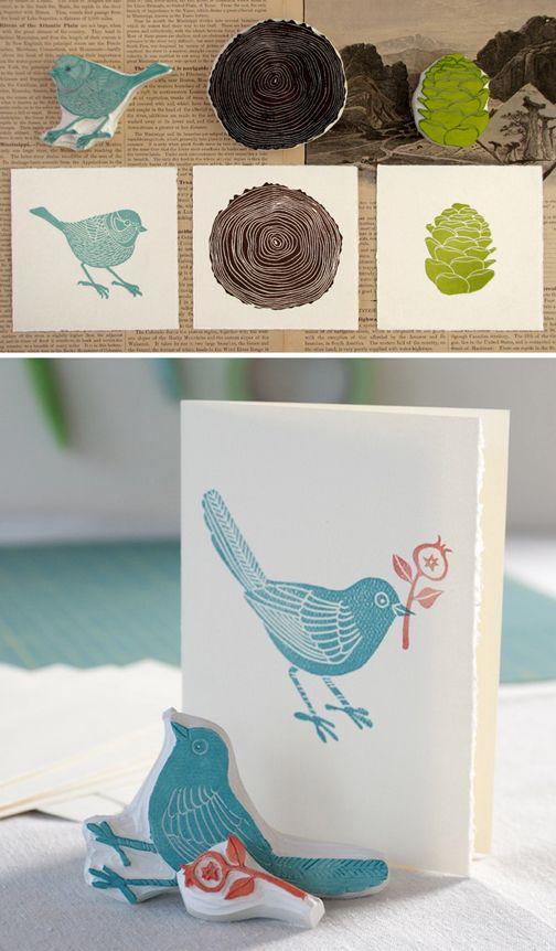 ummm.... lets make these. handmade stamps. @Kelly Teske Goldsworthy Teske Goldsworthy Larson Floral Studio