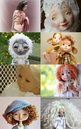 My sheep was added to OOAK Art Doll by Marianna Bu on Etsy