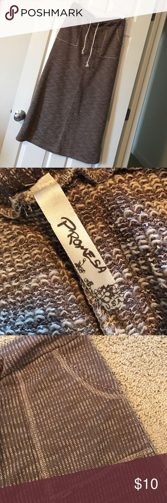 Promesa Maxi Skirt Women's Promesa brown/beige maxi skirt size L Promesa Skirts Maxi