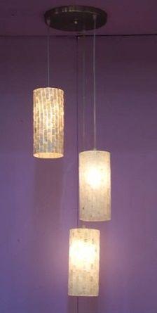 #Lampada #sospensione 3 cilindri in madreperla fatto a mano  #chandelier 3 cylinders in nacre #handmade  #arredamento #casa #interiordesign #home #decor