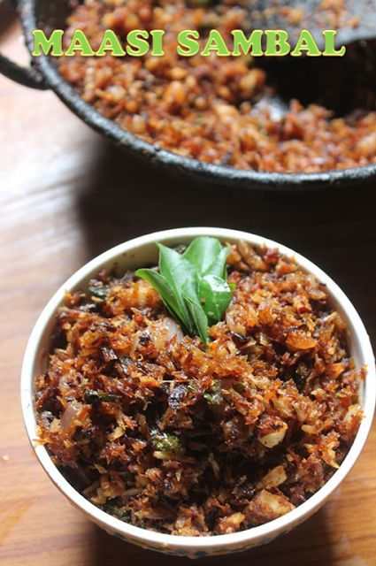 Maasi Sambal Recipe - Dried Fish Sambal Recipe - Maasi Karuvadu Sambal Recipe - Yummy Tummy