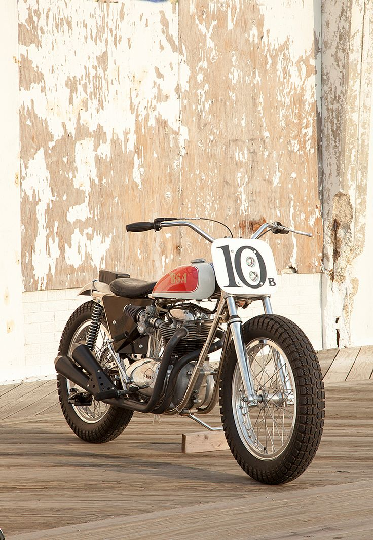 If there's a growing trend in custom motorcycles today, it's towards street trackers: road-legal versions of the flat track bikes that raced in the 1960s and 1970s. With small tanks, wide bars and fat tires, they're good-looking bikes stripped down to the essentials. Machines like this lovely BSA Trackmaster, resurrected by New Jersey's Phil Capozzi, are the archetype.