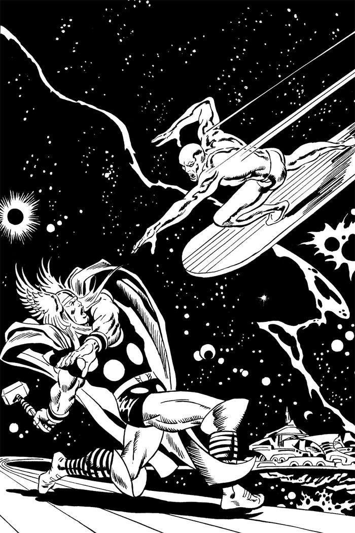John Buscema's cover art for Silver Surfer #4 (1969).