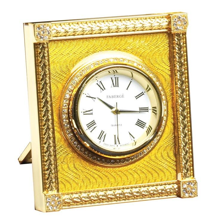 Catherine Palace Clock Yellow | Mantel & Desk Clocks | Clocks | Home Decor | ScullyandScully.com