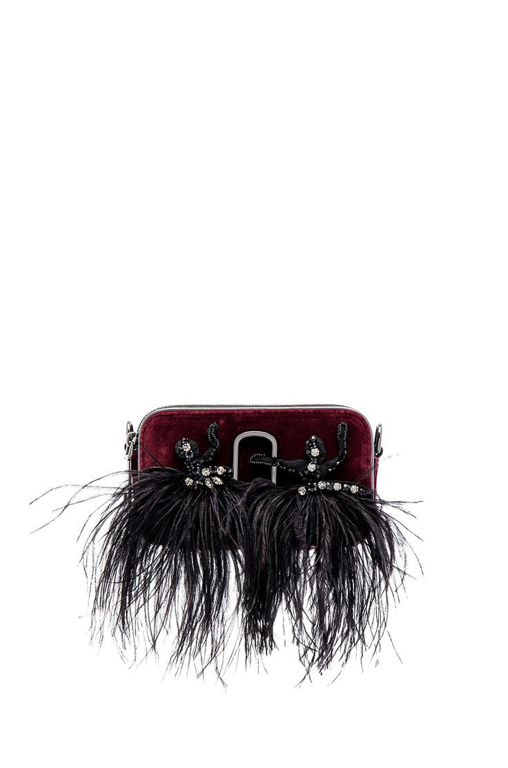 Marc Jacobs Snapshot Velvet Small Camera Bag in Bordeaux in Bodeaux | REVOLVE