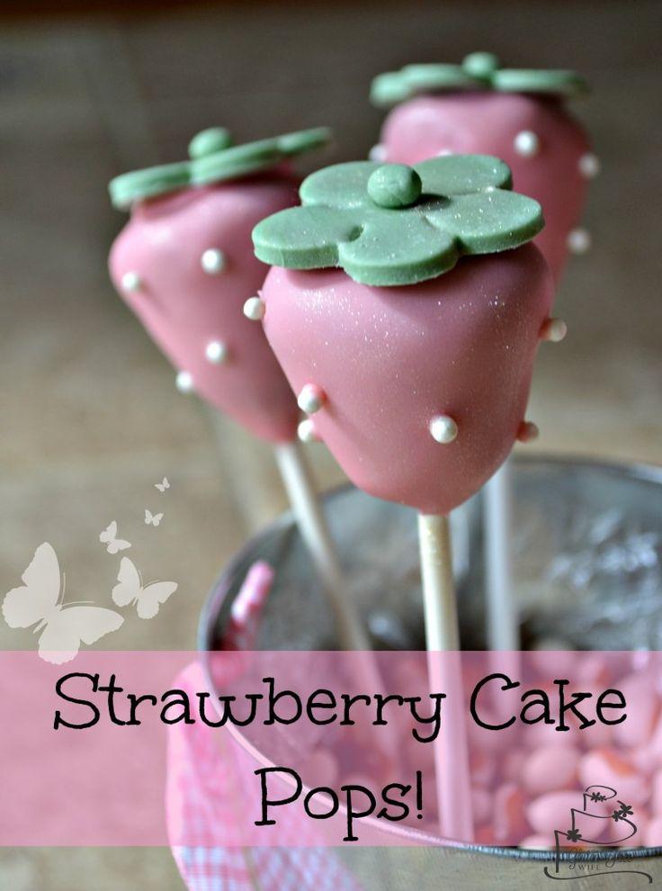 Gluten Free Strawberry Cake Pops! #glutenfree #cakepop