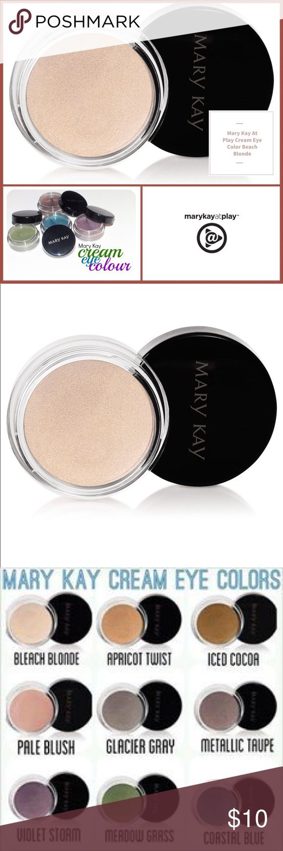 🆕 Mary Kay Cream Eye Color Beach Blonde 🆕 Mary Kay Cream Eye Color Beach Blonde ▪️This soft, creamy, long-wearing formula glides on easily, lasts for 10 hours and can be applied in multiple layers to deliver more noticeable color while retaining a lightweight feel. ▪️Can be used alone or as a primer under mineral eye color. ▪️Dries quickly & does not transfer. ▪️Oil- and fragrance-free. ▪️Clinically tested for skin irritancy and allergy, suitable for sensitive skin and eyes. ▪️Note: In…