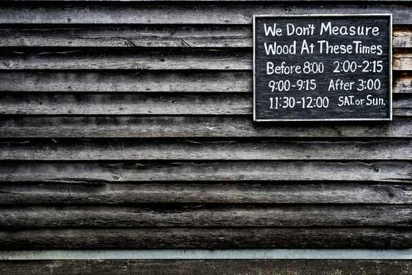 Wood Measuring Schedule. Sony Alpha 7, Leica Summilux 50mm f/1.4 ASPH. © Jim Fisher