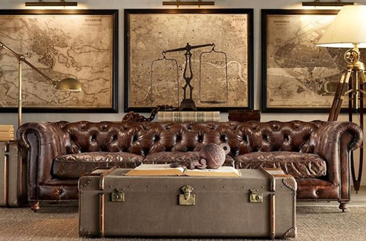 Steampunk Home Décor Old Industrial Map And Terrestrial Globe 1