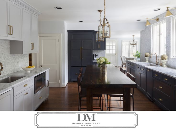Amazing Villanova Kitchen  Charcoal Gray Cabinets Paired With Light Gray Cabinets  White Quartzite Counters Reclaimed Wood Part 30