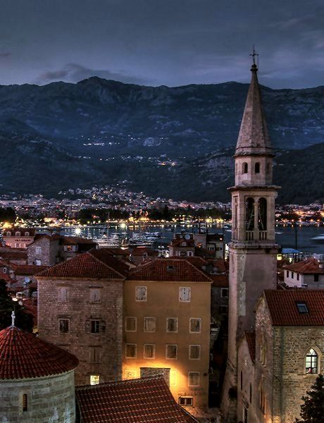 Budva, Montenegro. Small Baltic country on the Adriatic sea coastline. It is one of the southern must European states.