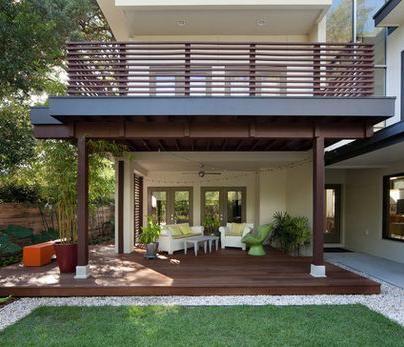 Resultado de imagen para casas pequeñas con terraza al frente en segundo piso