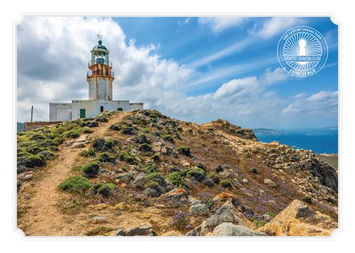 Our Concierge recommends:  The Armenistis Lighthouse, located at the north-western side of #Mykonos, stands as a mute testimony to the rich maritime past of the island. #santamarina #armenistislighthouse