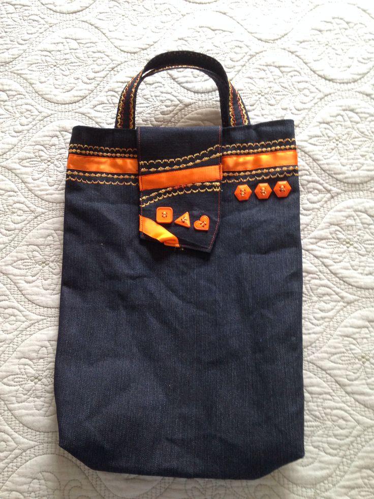 The orange bookbag