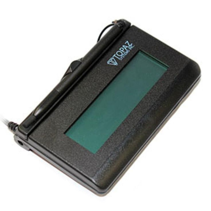 Topaz T-L462 Signature Gem LCD 1x5 Electronic Signature Pad Serial T-L462-B-R