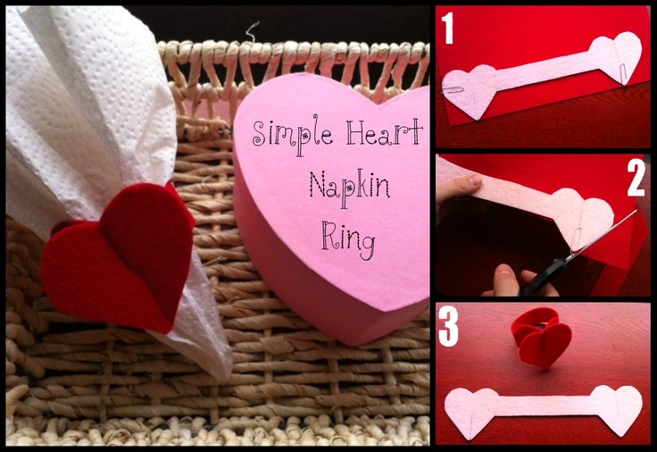 Easy and super cute Valentine Napkin Rings--a craft with a purpose. :)