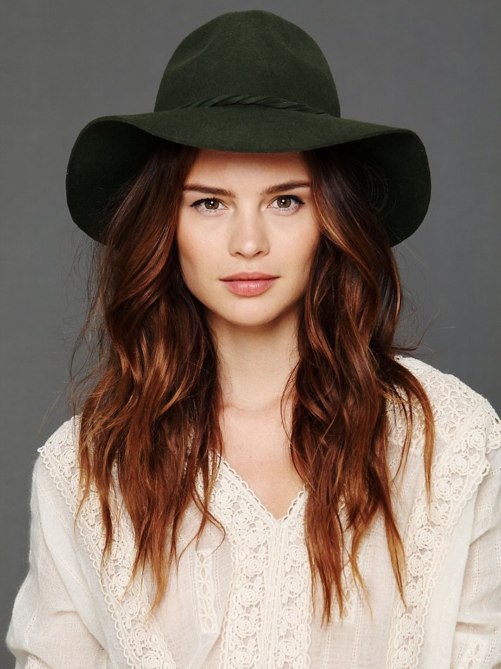 Free People Clipperton Fedora, $58.00 in green, black & brown