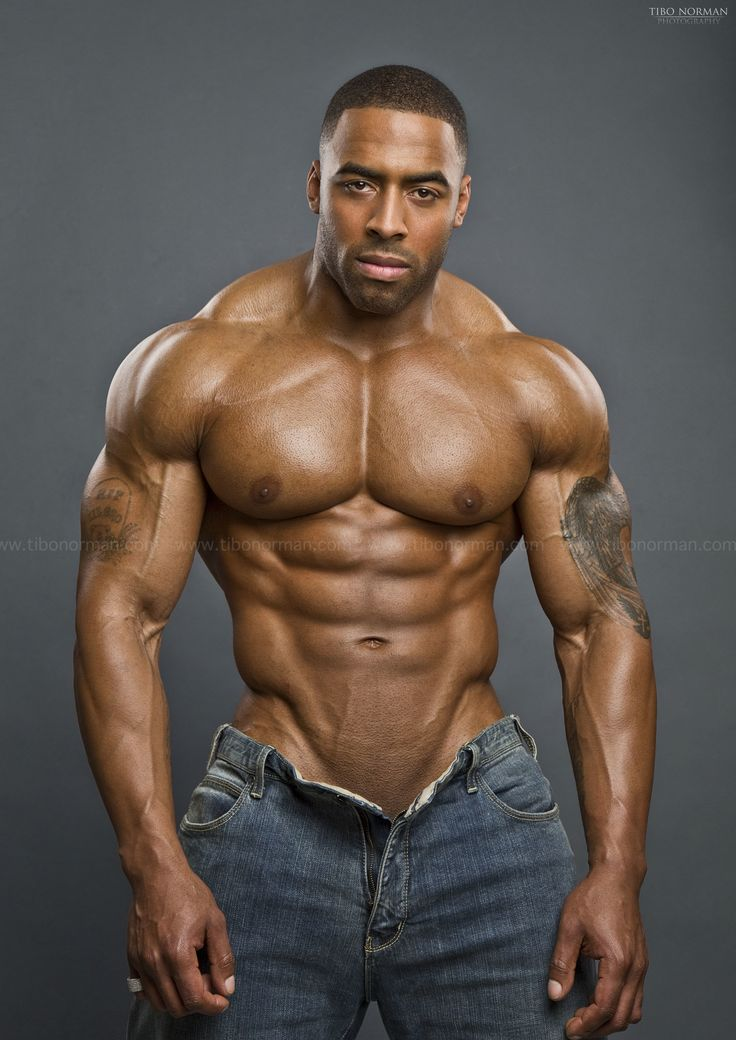 image Hunk black american men dick in underwear