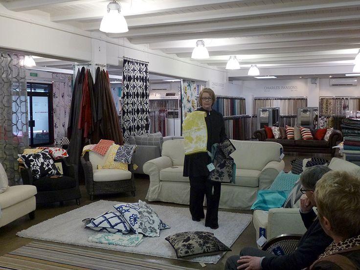 Janis Martin shows off the Florence Broadhurst range, new to Rapee