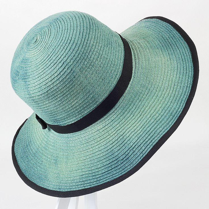 kapelusz słomkowy szafirowo-zielony