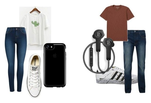 """Untitled #336"" by alex-reid-faulkner on Polyvore featuring adidas, Pieces, Converse, Speck, Bellfield, Everlane and B&O Play"