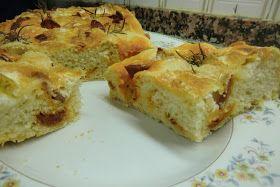 Las Recetas Fáciles de María: Focaccia de Queso Rulo y Chorizo Casero