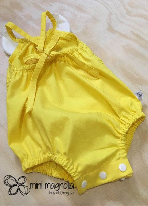 Lil Miss Sunshine Lace Collar Romper for by MiniMagnoliaStore