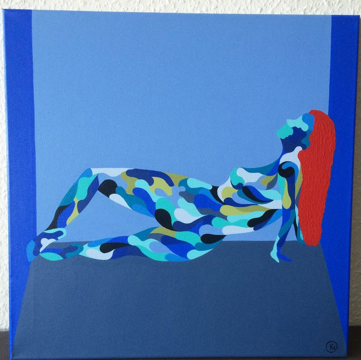 "Titel ""Kvindens Dyd I"" English ""The Woman's Virtue I"" 50x50 cm.  Acrylic Colors"