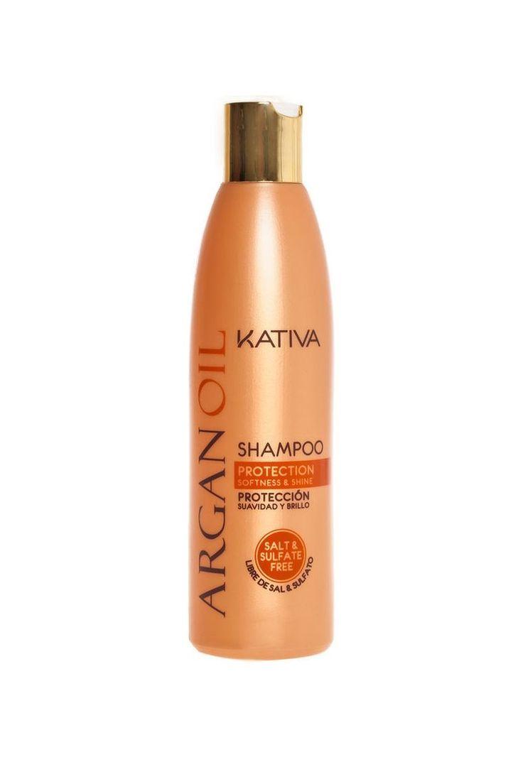 Kativa Argan Oil Shampoo Είναι ένα σαμπουάν που σχεδιάστηκε  για ξηρά, θαμπά μαλλιά, που δημιουργούνται  από διάφορους παράγοντες και από εξωτερικούς παράγοντες όπως ο καιρός, ο ήλιος, κ.λπ Έχει ενυδατική δράση η οποία  αποτρέπει την ξηρότητα και προστατεύει  την τρίχα δίνοντας παράλληλα  φωτεινότητα και λάμψη. Χωρίς προσθήκη θειικού άλατος επιτρέπει τον λεπτό καθαρισμό των μαλλιών σας  χαρίζοντας σας μαλλιά μαλακά και λαμπερά.