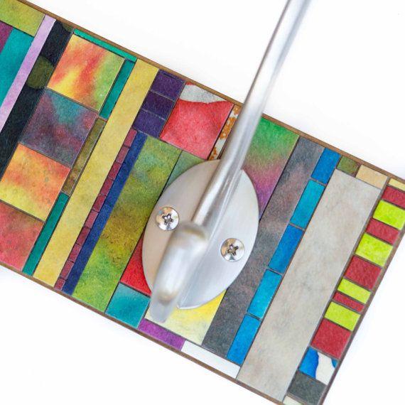 Capa estante percha hecho a mano papel verticales rayas por calyrew