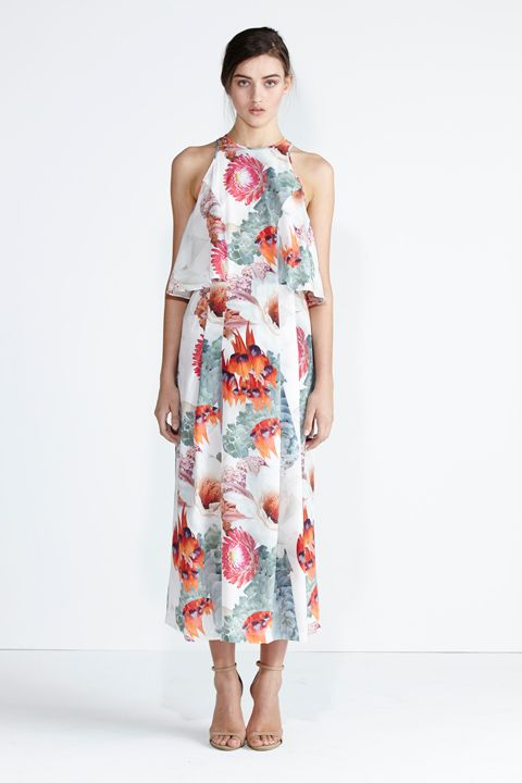 Secret South SS13/14 collection. Constellation Dress in Red Floral. www.secretsouth.com.au