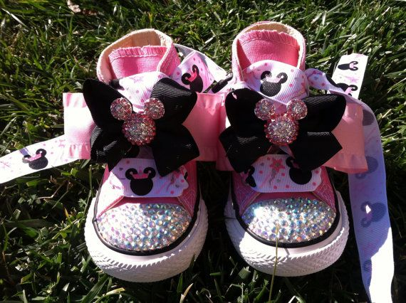 Minnie Mouse Inspired Shoes  Minnie Mouse Birthday by SparkleToes3, $79.99