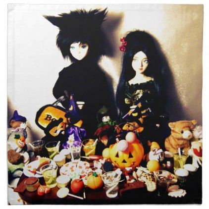 old halloween photo napkin - Halloween happyhalloween festival party holiday