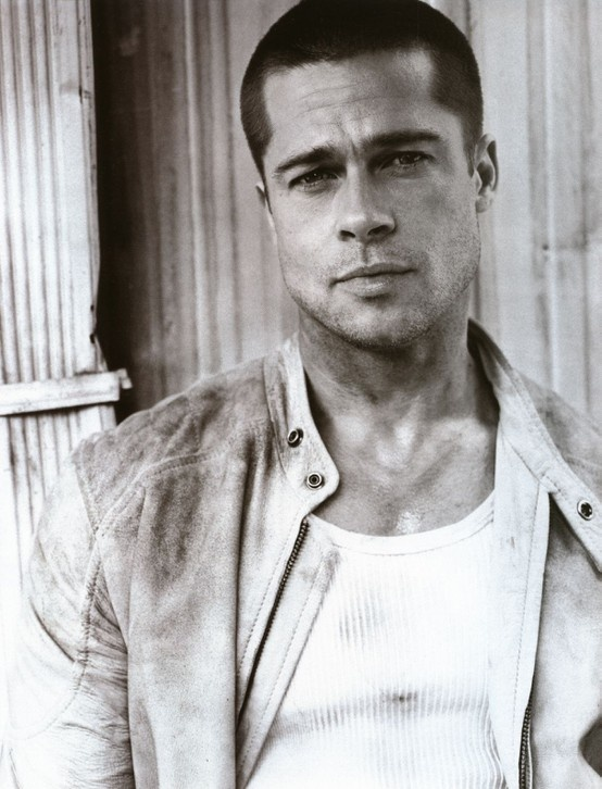 Brad Pitt. I like him best with his hair buzzed like that.