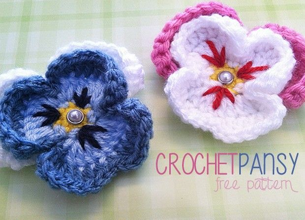 The 27 Best Crochet Flowers Free Patterns Images On Pinterest