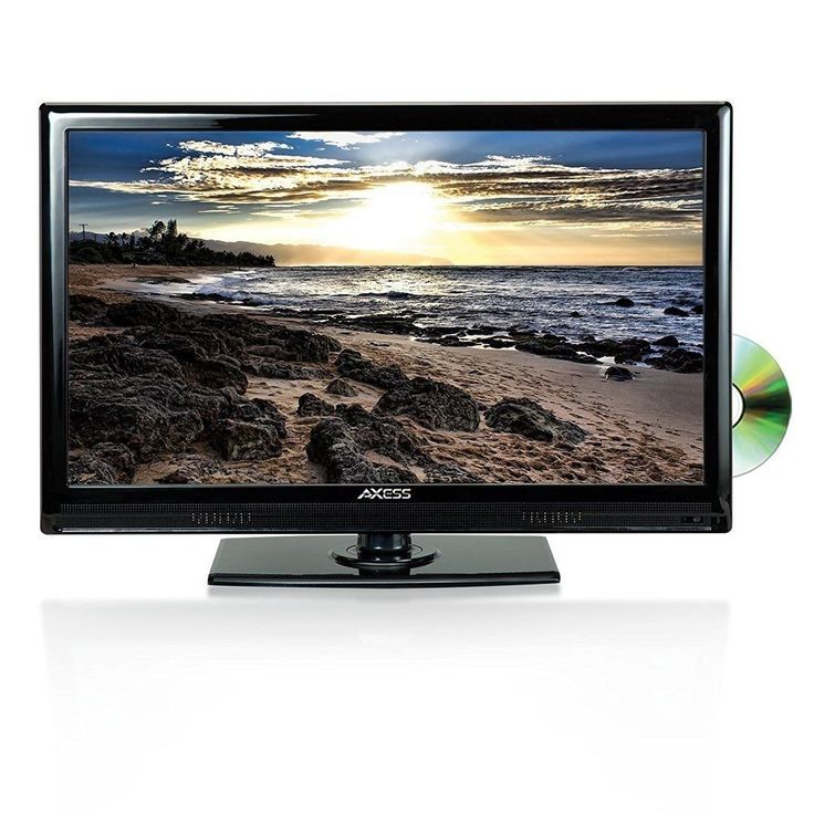 AXESS 24 LED TV with BUILT IN DVD PLAYER AC/DC 12V CAR TRUCK RV CORD HDMI USB