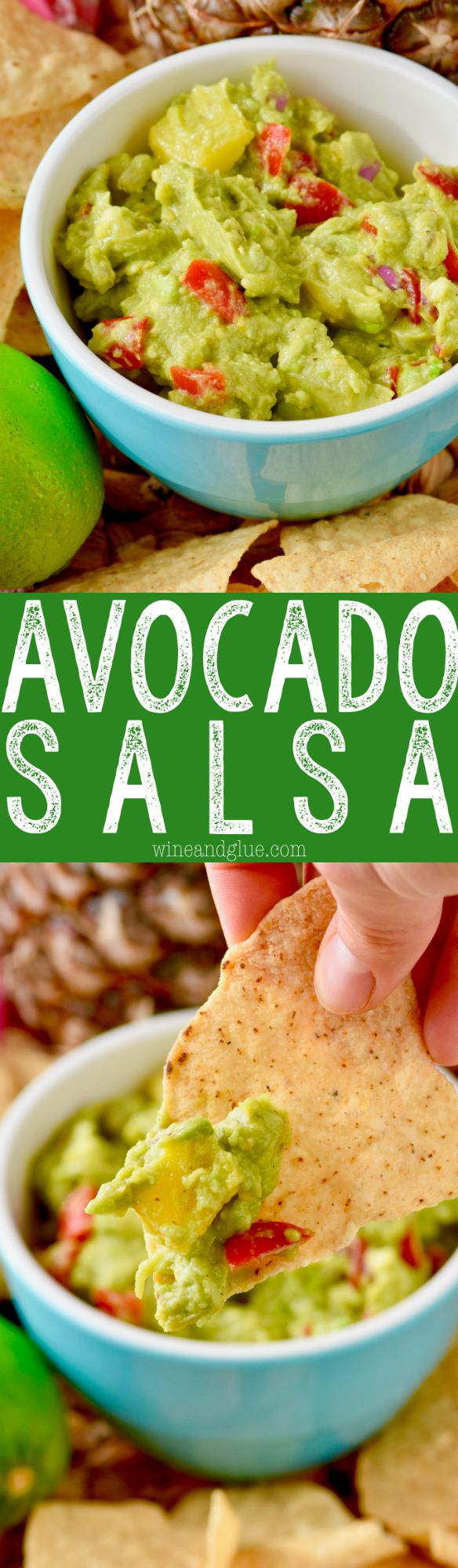 This Avocado Salsa is so easy to make but full of flavor!  Perfect to top your tacos or just gobble up with chips!