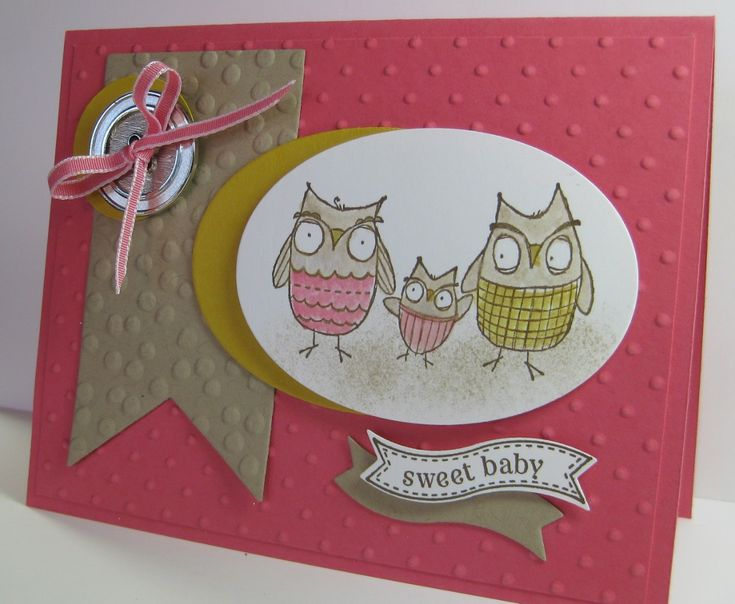 Sweet Baby Card - Pink - SU - Baby, We've Grown; Itty Bitty Banners (by Barb Mann)