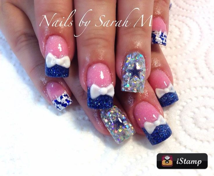 77 best cowboys images on pinterest nail art braids and football cowboy acrylic nails prinsesfo Images