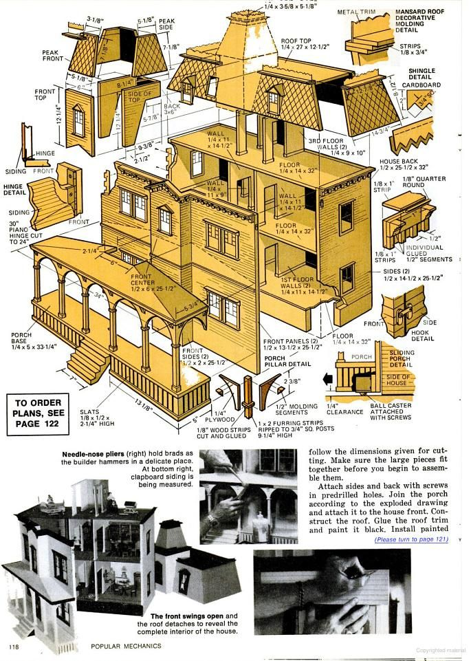 Popular Mechanics - Google Books Planos de edificio a escala