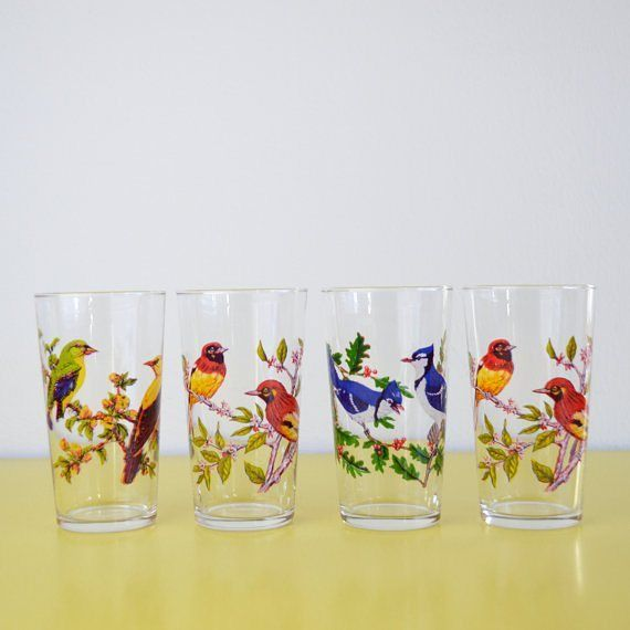 Challenge your mates to a drink off with these ornithologically themed glasses. What a lark!  #Vintage #Bird #Glasses #Retro #Birds #Design #Glasses #vintage #barware #vintageseller #vintageshop #drinks #drinking #cocktails #whiskey #vodka #tequila #ginandtonic #gin #jagerbomb