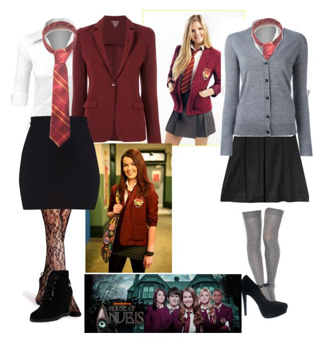 """""""House of Anubis: Patricia and Amber"""" by alex2116 ❤ liked on Polyvore featuring LE3NO, jared, Majestic Filatures, MICHAEL Michael Kors, ASOS, Julien David and Burberry"""