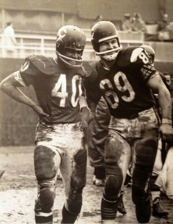 Gale Sayers and Mike Ditka.