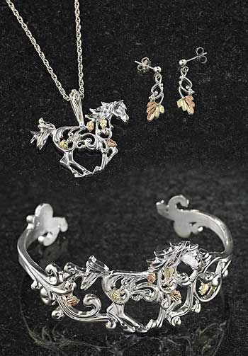 Horse & Leaf Black Hills Gold & Silver Jewelry : Wild Wings