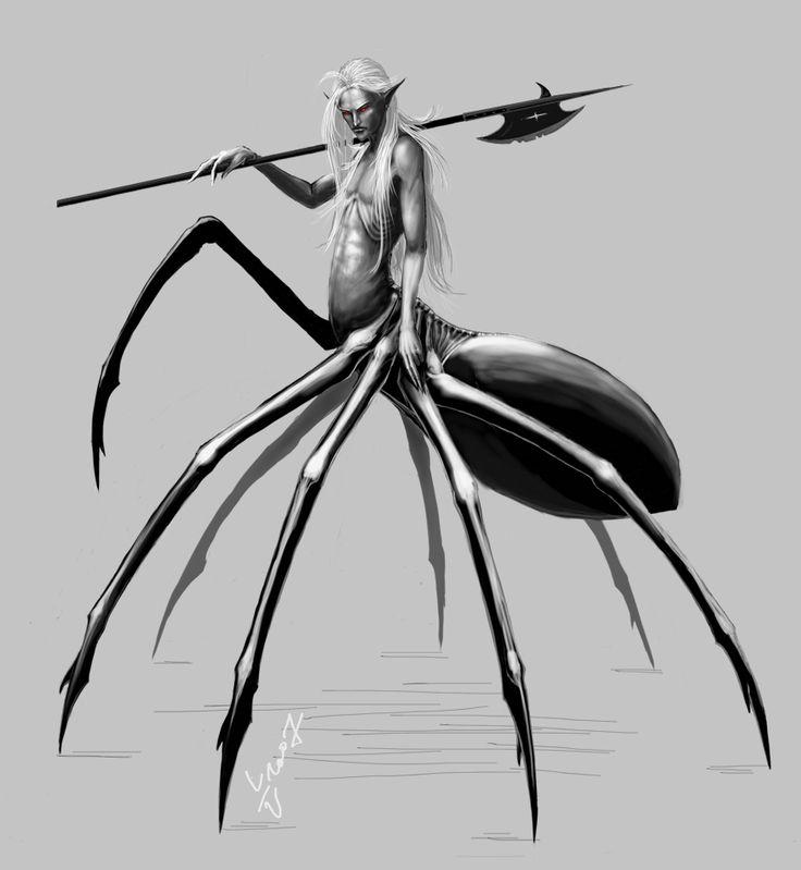 Half human half spider