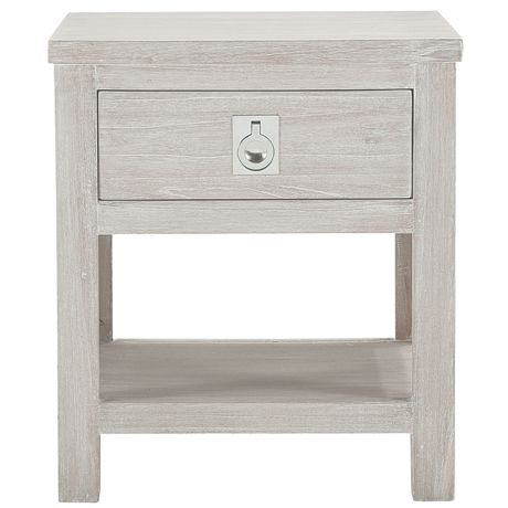 Cancun 1 Drawer (Bedside) Table in White Wash..use in various ways