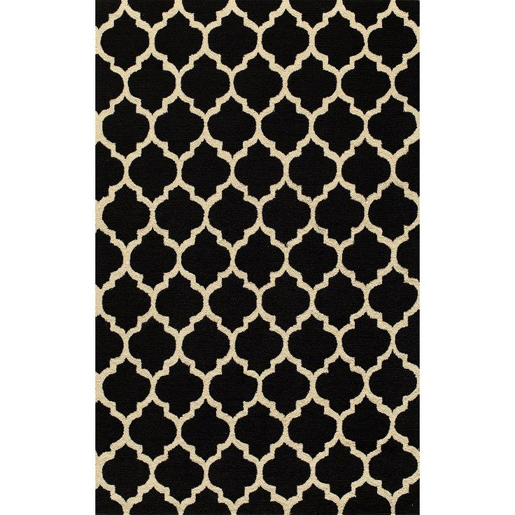 simple morocco area rug black target black and tan. Black Bedroom Furniture Sets. Home Design Ideas