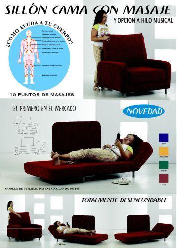 M s de 1000 ideas sobre sillon cama en pinterest sillon for Colchones para sofa cama dos plazas