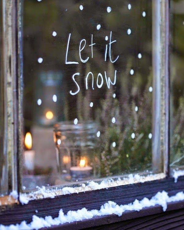 Let It Snow By Sunny Days And Starry Nights Christmas Window Decorations Rustic Winter Decor Christmas Decorations