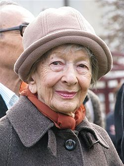 Wisława Szymborska is a Polish poet, essayist, translator and recipient of the 1996 Nobel Prize in Literature. If you sit at the cafe's in Krakow, you might get lucky and meet her; I did :)